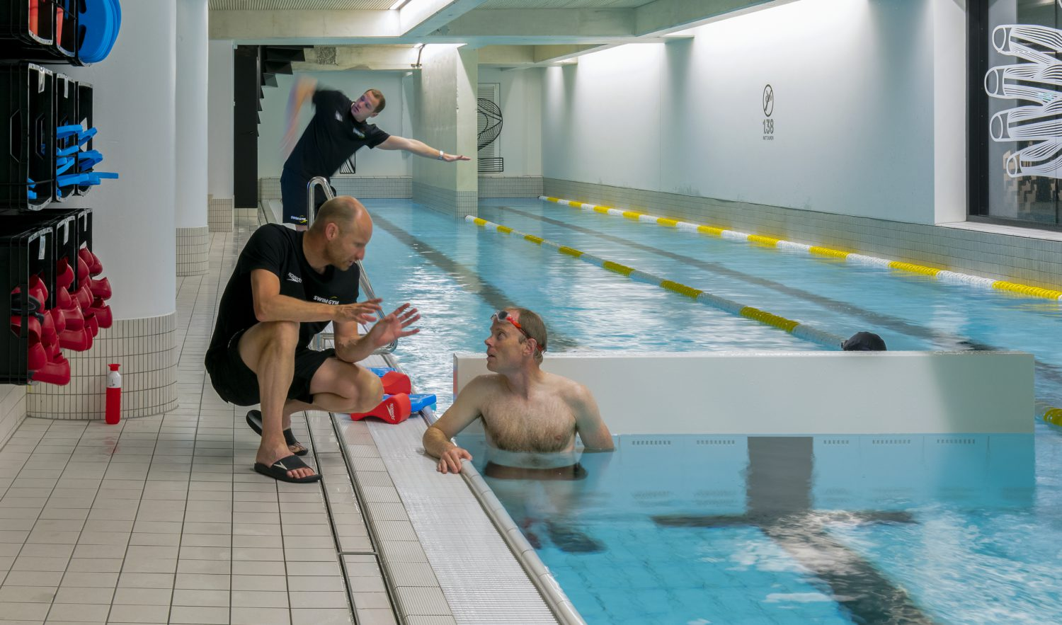 SwimGym personal training. Individual coaching and technique analisyses for swimmers & triathetes. All levels, members and non-members. Train Like A Pro.